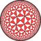 Order-4 bisected pentagonal tiling