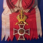 Order of Leopold grand cross badge sash (Austria 1914-1918) - Tallinn Museum of Orders.jpg