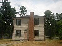 Original wood courthouse.