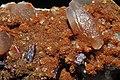 Orpiment, calcite, realgar, baryte.jpg