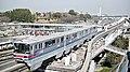 Osaka Monorail near Bampakukinenkoen Station, Suita Junction 2014-03-28.jpg