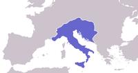 Map of Ostrogothic Kingdom