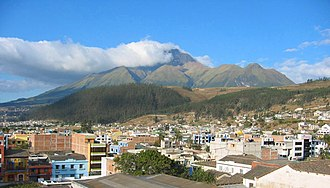 Otavalo (city) - Otavalo with Imbabura in the background