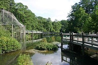 Virginia Living Museum - Outdoor exhibits around the lake at the Virginia Living Museum