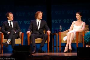 Caitriona Balfe - Balfe with Outlander co-stars Tobias Menzies and Sam Heughan