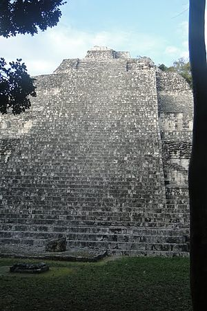 Becan - Outside stairway, Structure IX