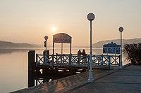 Pörtschach Werzerpromenade Schiffsanlegestelle Sonnenuntergang 17022015 7558.jpg