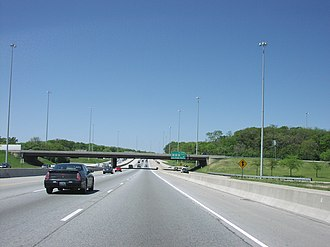 Interstate 55 in Illinois - The Stevenson Expressway near Countryside, heading southwest