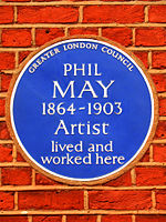 PHIL MAY 1864-1903 Artist lived and worked here.jpg