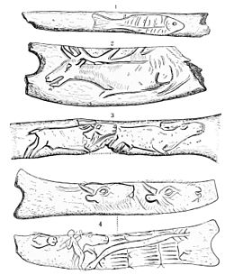 PSM V44 D647 Delineations on pieces of antler.jpg