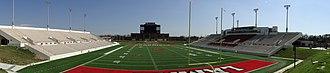 Provost Umphrey Stadium - Image: PU Stadium Panfrom Morgan Suites