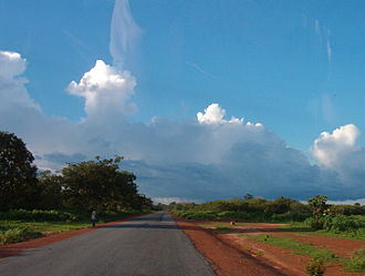 Geography of Guinea-Bissau - Typical scenery in Guinea-Bissau.