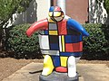Painted Turtle in front of Dougherty County Courthouse.JPG