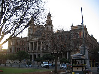 Law of South Africa - The Palace of Justice in Pretoria, seat the High Court of South Africa Gauteng Regional Division, Pretoria