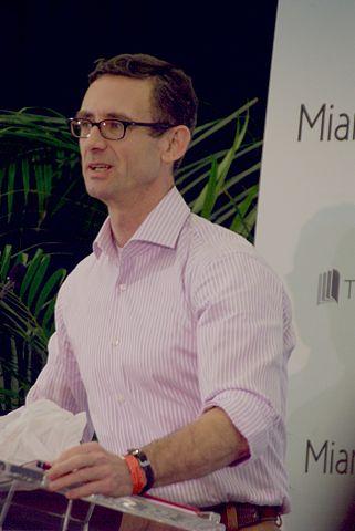 Паланик на литературном фестивале в Майами, 2011 год