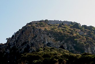 Old Navarino castle - The castle seen from Voidokilia beach.