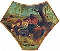Palais Bourbon, Malerei in der Kuppel der Theologie, Szene- Babylonische Gefangenschaft (Eugène Delacroix).jpg