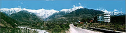 View of Dhauladhar Mountains from Palampur