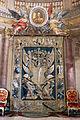 Palazzo colonna, appartamenti di donna isabella, arazzo con stemma colonna.JPG