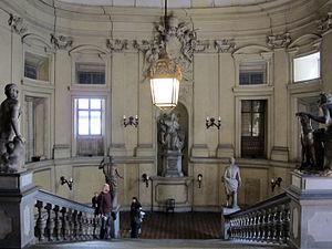 Palazzo Corsini (Via del Parione) - Entrance staircase