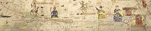 "Senegal River - Course of the ""River of Gold""  (Senegal-Niger) in the 1413 portolan chart of Mecia de Viladestes."