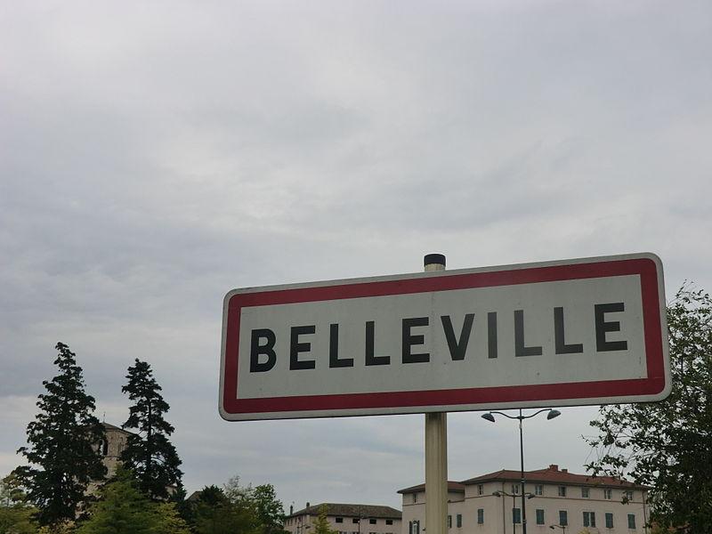 Panneau d'entrée Belleville.
