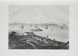 Panorama de Nictherohy et St. Domingue em face de Rio de Janeiro