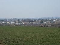 Panorama sur Brécey depuis le chateau de Vassy (3).JPG