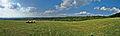 Panoramatický pohled na obec z vyhlídky jihovýchodně od obce, Velenov, okres Blansko.jpg