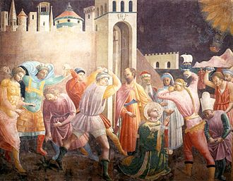 Saint Stephen - Stoning of Saint Stephen by Paolo Uccello