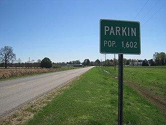 Parkin, Arkansas - Image: Parkin AR 2012 03 001