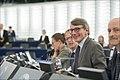 Parliament elects Ursula von der Leyen as first female Commission President (48308300622).jpg