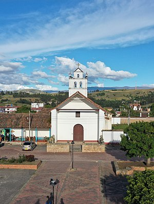 Oicatá - Image: Parque principal 2