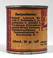 Pastoor Heumanns geneesmiddel Nr35 Aambeien-zalf (Haemorrhoidaal-zalf) blikje, foto 6.JPG