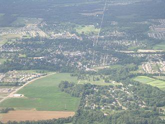 Pataskala, Ohio - Aerial photograph of downtown Pataskala