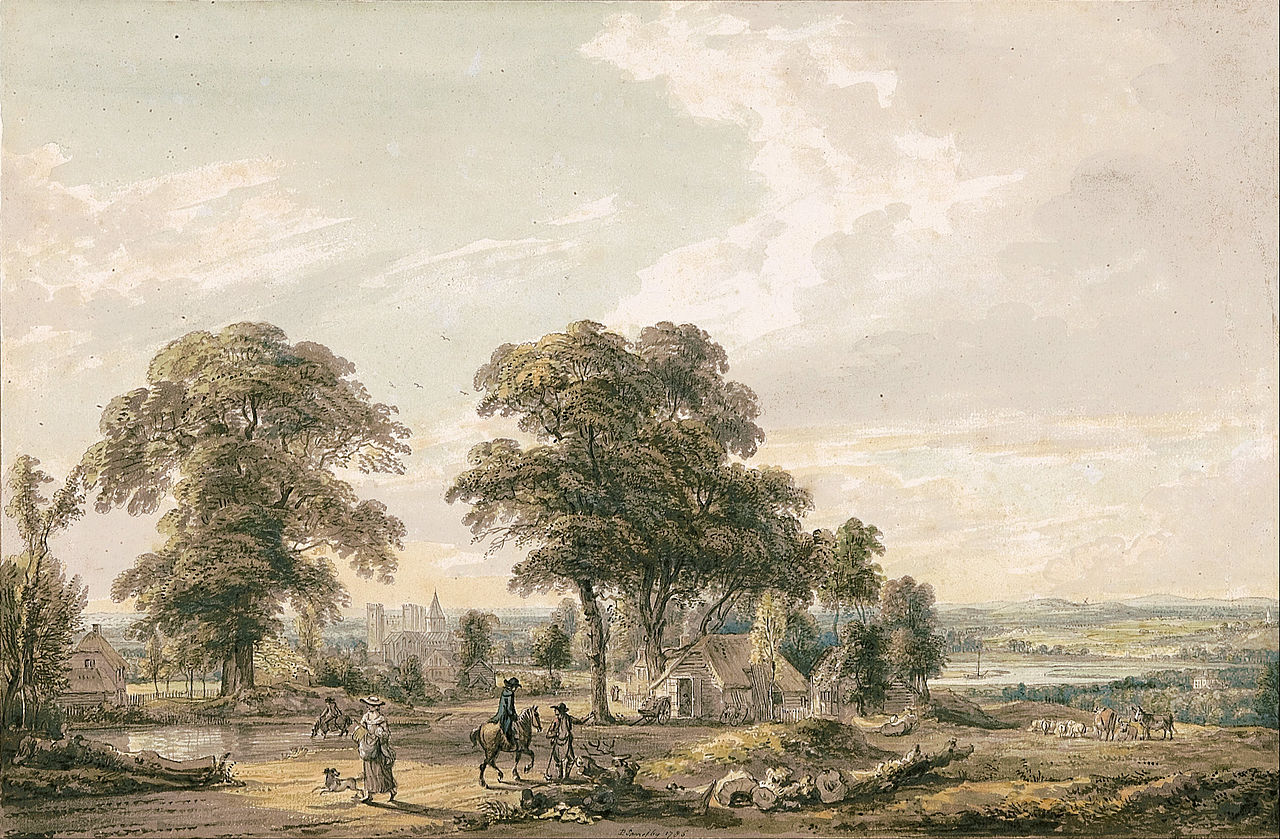 Paul Sandby - Approaching Rochester and the Medway - Google Art Project.jpg