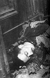 El cuerpo de Pauwels tras la explosión.