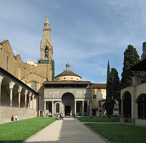 Pazzi Chapel - Pazzi Chapel and the cloister