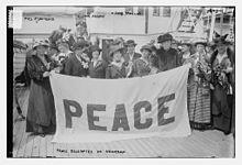 Le delegate americane al Congresso Internazionale delle donne per la pace, L'Aja, 1915