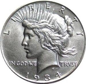 Teresa de Francisci - Obverse of the Peace dollar