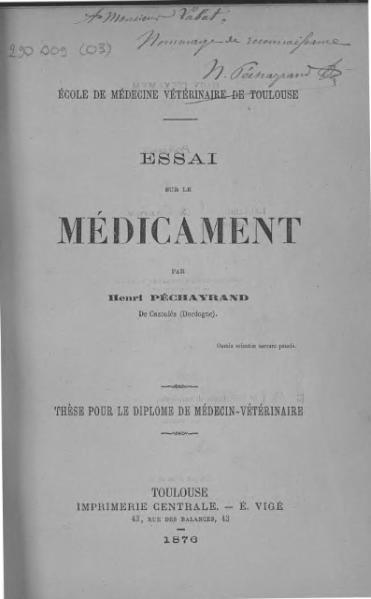 File:Pechayrand - Essai sur le médicament.djvu