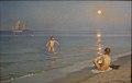 Peder Severin Krøyer-Boys bathing in Skagen summer evening-Statens Museum for Kunst.jpg