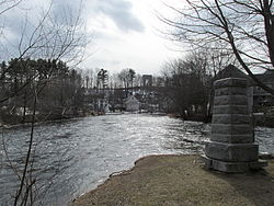 Island Park in the Winnipesaukee River between Tilton and Northfield