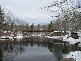 National Register of Historic Places listings in Strafford County, New Hampshire - Image: Pedestrian bridge and abutments of the County Farm Bridge, Dover NH