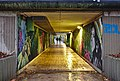 Pedestrian tunnel taking Chemin du Cyclotron below Boulevard Baudouin 1er, facing West (Ottignies-Louvain-la-Neuve, Belgium, DSCF1807).jpg