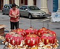 Penang Malaysia Chinese-woman-checking-a-delivery-of-chinese-lanterns-01.jpg
