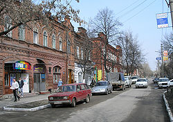 Historical Street in Penza (Most of these older houses were burnt down in an arson attack in 2010 to make way for new constructions)