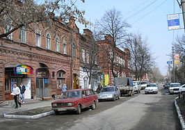 Historische straat in penza