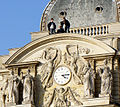 People on the roof of the Palais Luxembourg, 25 October 2012.jpg