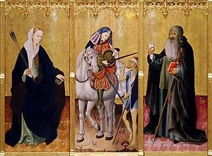 Altarpiece of Saints Ursula, Martin and Anthony - Image: Peris Sarria 02 detalle 01
